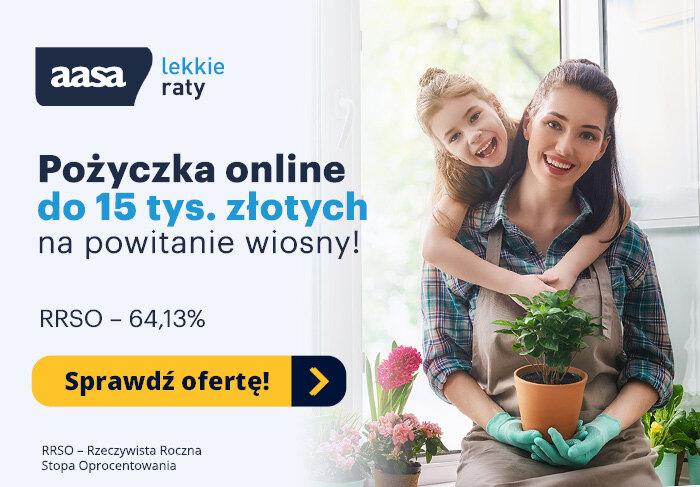 Pożyczka online do 15 tys. złotych na powitanie wiosny!