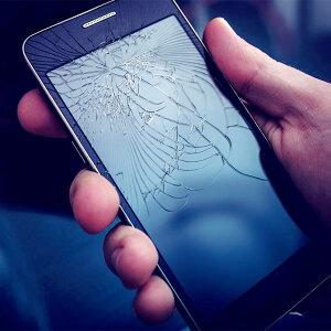 Zepsuty, pęknięty wyświetlacz w telefonie